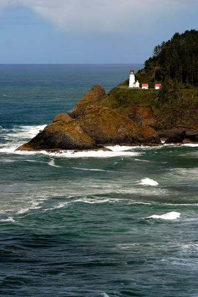Beautiful Lighthouse View from One of Our Lots of Yachats Land for Sale