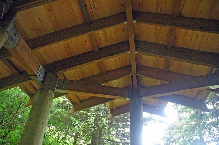 Beautiful Cabin View from One of Our Creekside Yachats Lots for Sale