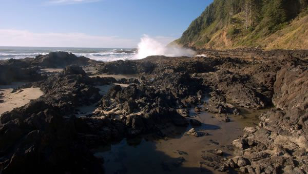 Beautiful Rocky Beach View from One of Our Lots of Yachats Land for Sale