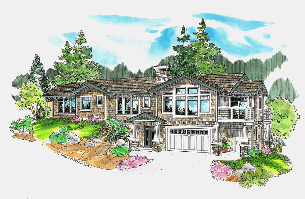 Drawing of a House Built on Our Yachats Land for Sale